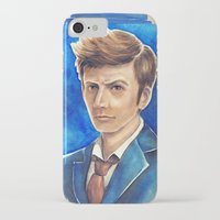 david tennant iPhone & iPod Cases featuring David Tennant 10th Doctor Who by Tiffany Willis