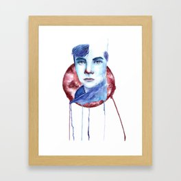 Cold-Blooded Watercolor Painting Framed Art Print