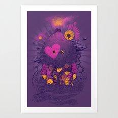 Walker Of the Darkness Art Print