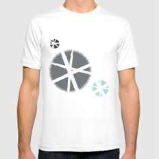 poufs White Mens Fitted Tee MEDIUM