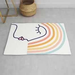Rainbow Head #lineart Rug