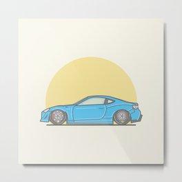 Toyota GT86 Vector Illustration Metal Print