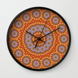 Kaleidoscope Autumn Leaves Wall Clock