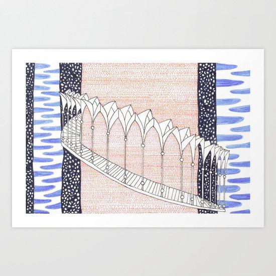 Cara Galadhon, Lothlórien Art Print