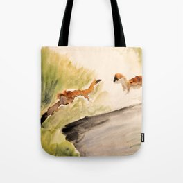 Stoat in the sunset (watercolor) Tote Bag