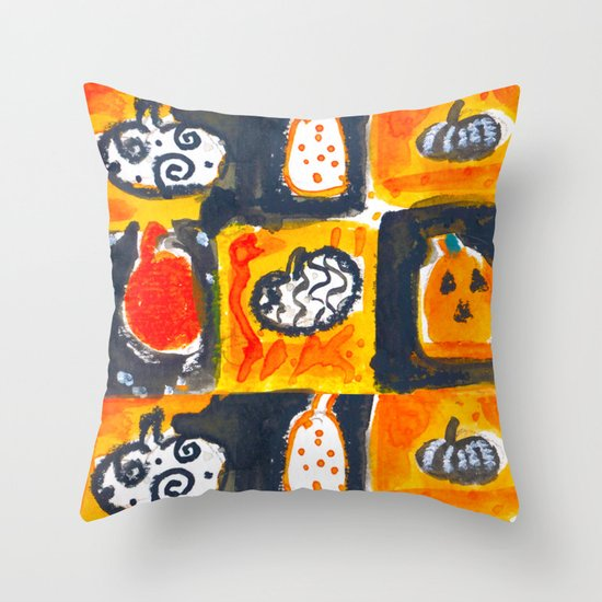 Pumpkin Textile Throw Pillow