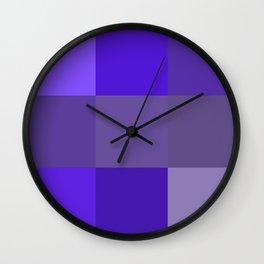 Purple fantasy grid Wall Clock