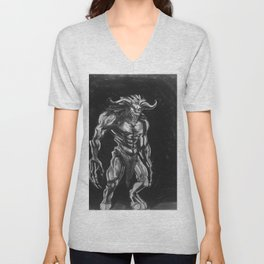 Goron of Ancient Hybrids By Samantha Glover Unisex V-Neck