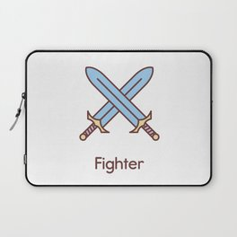 Cute Dungeons and Dragons Fighter class Laptop Sleeve