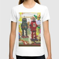 robots T-shirts featuring Robots by Five Ate Five Studios