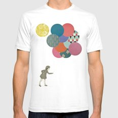 Party Girl SMALL White Mens Fitted Tee