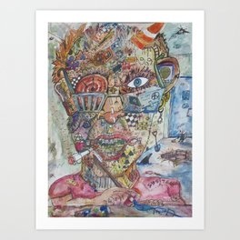 Something Puzzling Me Art Print
