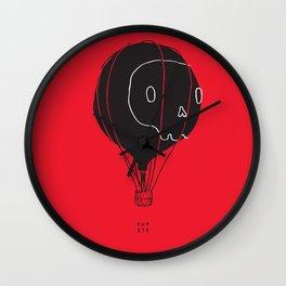 Hot Air Balloon Skull Wall Clock