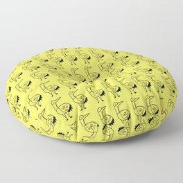 Yellow Birds  Floor Pillow
