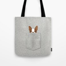 Pocket Boston Terrier - Red Tote Bag