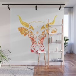Angry cattle in the wind by #Bizzartino v2 Wall Mural