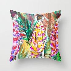 Summer Vibes #fashionillustration  Throw Pillow