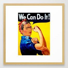 Frida The Riveter Framed Art Print