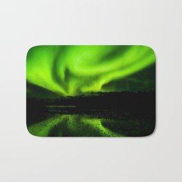 aurora borealis northern lights sky Bath Mat