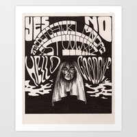 ouija Art Prints featuring Ouija by Anke Verret