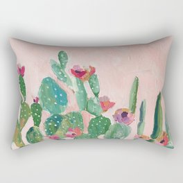 Prickly Pear Flower Rectangular Pillow