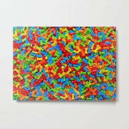 Dog Bones Multicolored Candy Pattern Metal Print