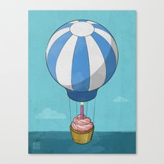 Flying Cupcake Canvas Print