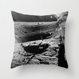 Apollo 16 - Moon Astronaut Crater Throw Pillow