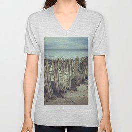 Walrus teeth still standing Unisex V-Neck
