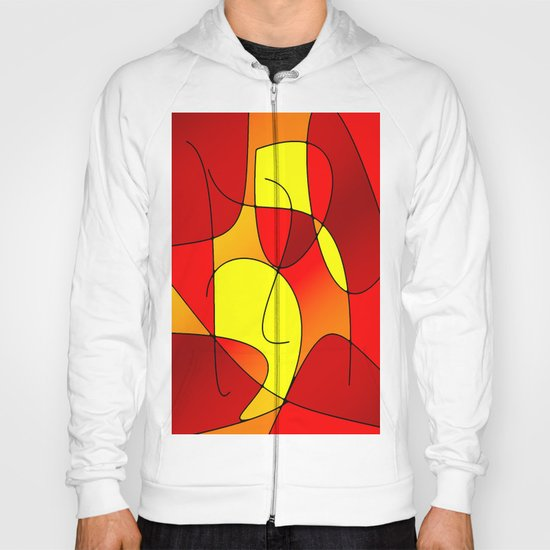 ABSTRACT CURVES #1 (Reds, Oranges & Yellows) Hoody