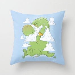Monster Shave Throw Pillow