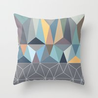 nordic Throw Pillows featuring Nordic Combination 31 by Mareike Böhmer