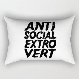 Anti Social Extrovert Rectangular Pillow