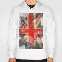 union jack Hoodies featuring Union Jack by Honeydripp Designs