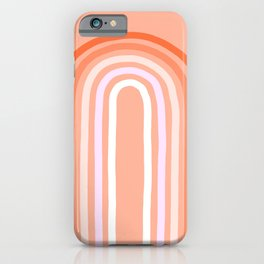 Rise above the Rainbow - Peachy pastels iPhone Case