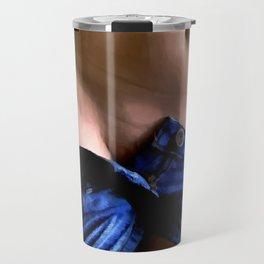 Girl in Jeans #1 Travel Mug
