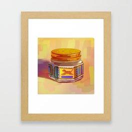 Tiger Balm Framed Art Print
