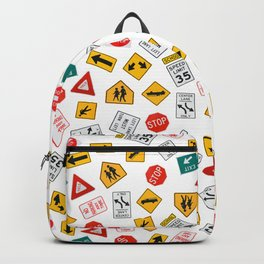 Road Traffic Sign Collage Backpack