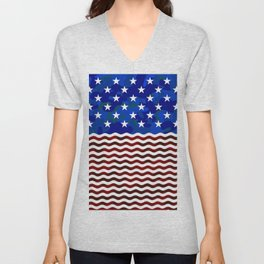 Stars & Waves (Camouflage) Unisex V-Neck