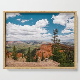 The Black Birch Canyon at Bryce Canyon National Park Serving Tray