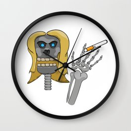 skeleton with cigarette Wall Clock