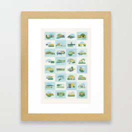 Modern Homes (Dusk) Framed Art Print
