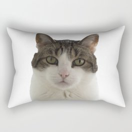 Attentive Cat Rectangular Pillow