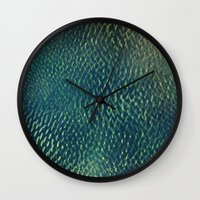 scales Wall Clocks featuring Scales by Simona Sacchi