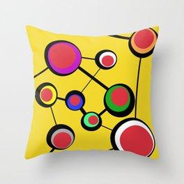 Mid Century Molecules Throw Pillow