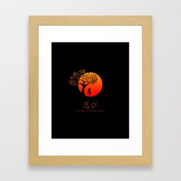 Shinobi Endures Framed Art Print