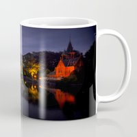 brussels Mugs featuring Brussels at night by Danielle W