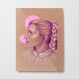 Pink Princess Leia Metal Print