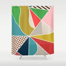color segments 002 Shower Curtain