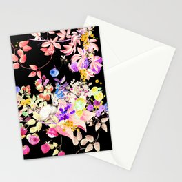 Soft Bunnies black Stationery Cards